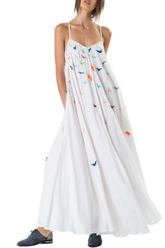 Embroidered Tank Maxi Dress
