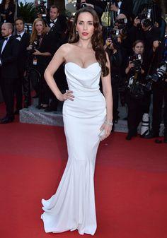 L'actrice et chanteuse uruguayenne Natalia Oreiro (en robe Basil Soda).
