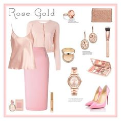"""""""So Pretty: Rose Gold Jewelry"""" by alina-n ❤ liked on Polyvore featuring Michael Kors, Blue Nile, Kevin Jewelers, RED Valentino, Roland Mouret, Christian Louboutin, La Perla, Chelsea28, Bulgari and AmorePacific"""
