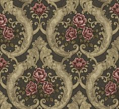 ДекорÀ - Декупаж, Декор, ВДОХНОВЕНИЕ Textile Pattern Design, Textile Patterns, Textiles, Embroidery Patterns, Fabric Design, Victorian Wallpaper, Damask Wallpaper, Paper Wallpaper, Decoupage Vintage
