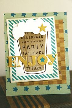 Enjoy Card by Erin Lincoln for Papertrey Ink (May 2015)
