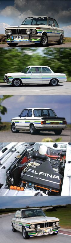 1972 Alpina A4S / BMW 2002 / 169hp / Germany / white green blue livery / hypercarbulli