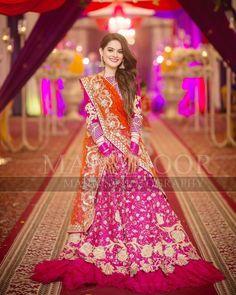 Discover thousands of images about Mehndi 💕 Aiman weds Muneeb Pakistani Mehndi Dress, Pakistani Fashion Party Wear, Walima Dress, Shadi Dresses, Pakistani Formal Dresses, Pakistani Wedding Outfits, Pakistani Dress Design, Bridal Outfits, Indian Outfits