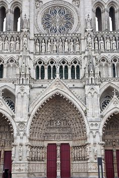 Amiens Cathedral, Amiens, France.  Go to www.YourTravelVideos.com or just click on photo for home videos and much more on sites like this.