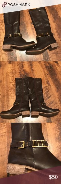 Naturalized Tall Boot Size 9. End right under knee. Worn once in great condition. Naturalizer Shoes Heeled Boots