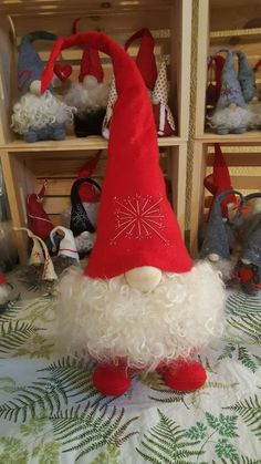 Set of 3 Christmas Gnomes Santa Christmas Tree Ornaments New year ornaments Swedish Gnome, Christmas Decoration Nordik Gnome Tomte Nisse Diy Christmas Ornaments, Felt Christmas, Christmas Projects, All Things Christmas, Holiday Crafts, Christmas Holidays, Christmas Wreaths, Christmas Knomes, Scandinavian Christmas