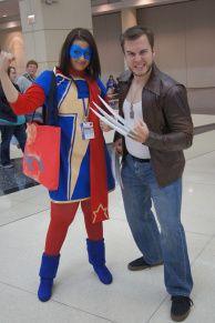 C2E2 2015 - Kamala Khan Cosplay and Wolverine