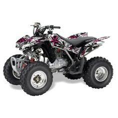 Amazon.com: AMR Racing Honda TRX 250EX 250X ATV Quad Graphic Kit - Northstar: Pink & White 2005-2009: Automotive