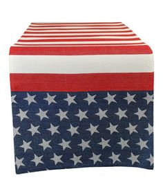 Look at this #zulilyfind! Flag Stripe Jacquard Table Runner by Design Imports #zulilyfinds