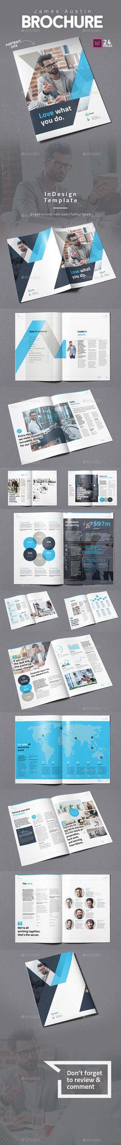 James Austin Brochure Portrait — InDesign Template #flyer #solution • Download ➝ https://graphicriver.net/item/james-austin-brochure-portrait/18486966?ref=pxcr
