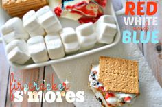 Red, White, and Blue Smores