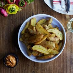 Fingerling Papas Bravas with Smoky Aioli // More Terrific Tapas: http://www.foodandwine.com/slideshows/tapas #foodandwine