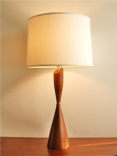 Midcentury+modern+wooden+table+lamp+vintage+by+highstreetmarket