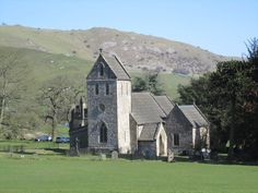 Ilam Church, Staffordshire, is the burial place of St Bertram and a place of pilgrimage. A lovely church with some Saxon parts. Close to Ilam Hall, once home of the Watts Russell and Port families.