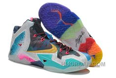 """buy popular 89ec1 e5f5d Nike LeBron 11 """"What The LeBron"""" Black Lava Silver Ice-Galaxy Blue For Sale  Cheap To Buy M5hcjZ"""