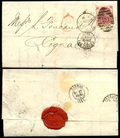 GB QV 1872 THREEPENCE Plate 7 on COVER to COGNAC..LONDON JOINT STOCK BANK + SEAL | eBay