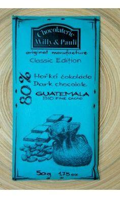 BIO Hořká čokoláda Guatemala 80%. Využijte naší dopravy zdarma při nákupu  nad 890 Kč nebo výdejního místa v Praze zdarma.
