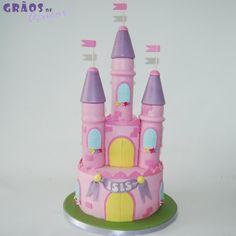 Castelo Princesas - Grãos de Açúcar - Bolos decorados - Cake Design