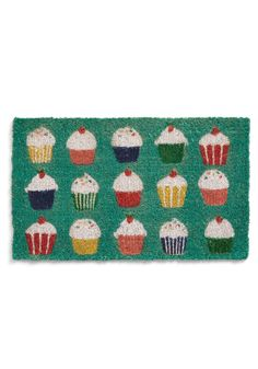 if we could find this cheaper somewhere... | Sprinkle Toes Doormat - Green, Multi, Red, Yellow, Green, Blue, White, Novelty Print