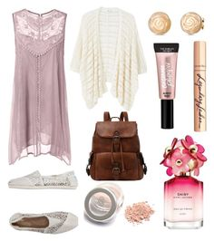"""lil"" by lilabeth on Polyvore featuring TOMS, MANGO, Marc Jacobs, Charlotte Tilbury and Beauty Rush"