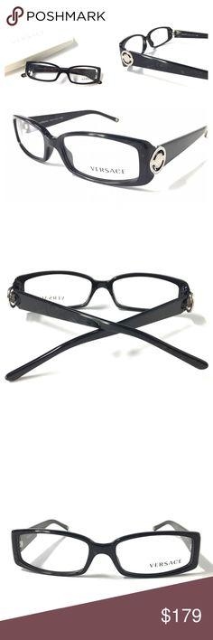 212384e1341 VERSACE Women s Eyeglasses NWOT Marble Black VERSACE Women s Eyeglasses  Optical Frame Marble Black 52-15