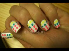 Katy Perry's candy button dress inspired nail art