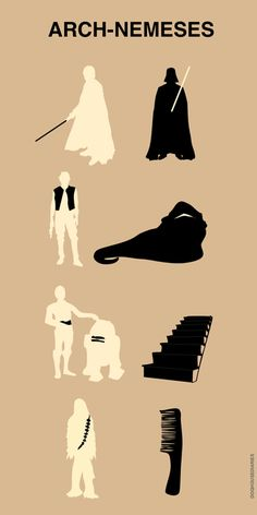 Star Wars Arch-Nemeses Poster. LOL the comb!
