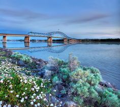 Blue Bridge, spanning the Columbia River between Pasco and Kennewick, Washington.