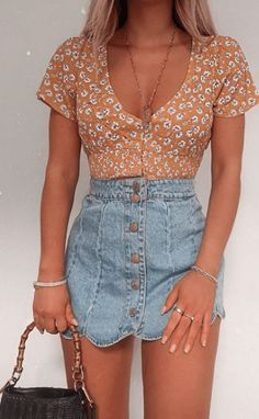 Cute Vacation Outfits, Cute Casual Outfits, Girly Outfits, Urban Outfits, Vintage Outfits, Fashion Outfits, Skirt Outfits, Womens Fashion, Summer Outfits Women 30s