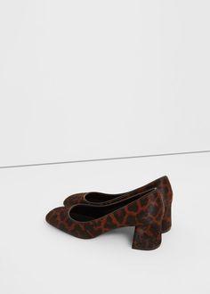 Кожаные туфли с ворсом | MANGO МАНГО