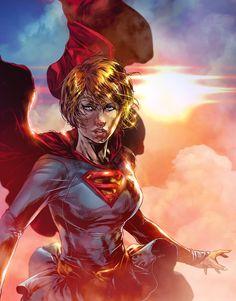 Supergirl DC COMICS (Colors) by le0arts.deviantart.com on @DeviantArt