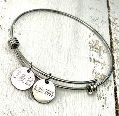 Personalized Engraved Stainless Steel Bangle