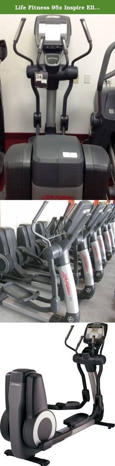 """Life Fitness 95x Inspire Elliptical. Are you ready for inspriation to go above and beyond? Integrated 7"""" Inspire Console with touch screen technology, iPod and iPhone compatibility, USB connectivity and LFconnect Website to create workouts, save personal settings and track results. Virtual Trainer offers encouragement and feedback. Workout LandscapeTM Perspectives motivates and Zoom feature enables larger workout data viewing."""