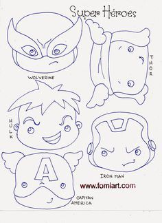 Patrones de Super Héroes Avengers en Miniatura   Fomiart
