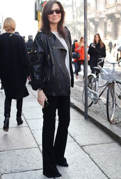 Emmanuelle Alt - Street looks à Milan - Jour 3 via Vogue Paris
