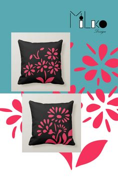 Accent your home with custom pillows from Zazzle and make yourself the envy of the neighborhood. Made from high-quality Simplex knit fabric, these 100% polyester pillows are soft and wrinkle-free. The heavyweight stretch material provides beautiful color.. #throw #pillow #square #homedecor #home #interiordesign #interiors #interiorstyling #bedroomdecor #zazzlecomproducts #zazzlemade #zazzlecom #zazzle #flower #black #red #tropic Group Boards, Pin Pin, Floral Pillows, Work Inspiration, Custom Pillows, Cool Gifts, Interior Styling, Envy, Online Shopping