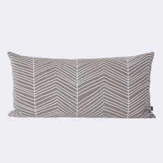 Herringbone Pillow, Gray