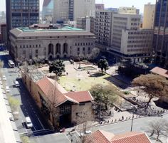 The Johannesburg City Library is situated across the road from the ANC's Luthuli House.