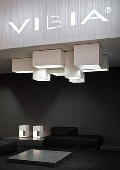 ♂ Minimalist design interior  Stand for Vibia by Spanish architect Francesc Rife _