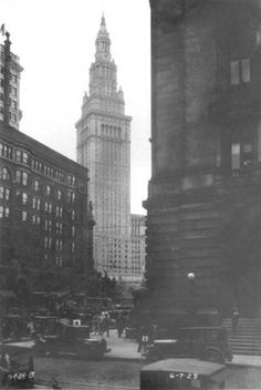 Terminal Tower construction :: Cleveland Union Terminal Collection