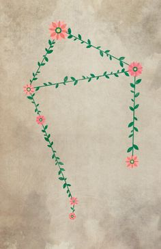 floral Libra constellation