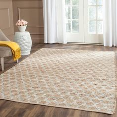 Shop for Safavieh Handmade Cape Cod Frederica Coastal Jute Rug. Get free delivery On EVERYTHING* Overstock - Your Online Home Decor Store! Oar Decor, Bunk Beds Built In, Floating Platform, Young House Love, Natural Area Rugs, Natural Rug, Board And Batten, Jute Rug, Geometric Rug