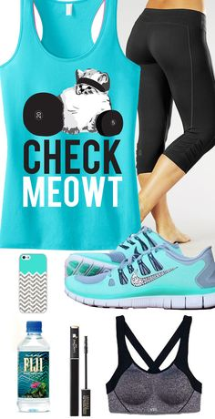 Cute, but STRONG! Cool Cat #GymGear board featuring teal CHECK MEOWT #Workout Tank Top by #NobullWomanApparel, $24.99 on Etsy. Click here to buy and look great while you train! https://www.etsy.com/listing/178887164/check-meowt-workout-tank-top-workout?ref=shop_home_active_8