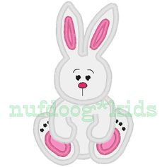 ADORABLE little Bunny Rabbit - perfect for Spring & Easter! :)  Use alone, or add name, phrase, wording as youd like.  Matches the Easter Finger Puppets