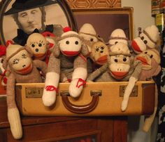vintage sock monkeys