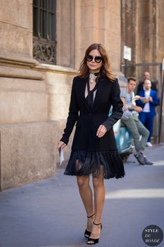 Milan Fashion Week SS 2016 Street Style: Christine Centenera