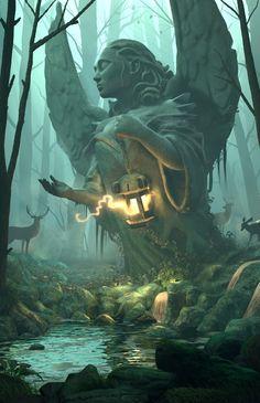 Dungeons and Dragons fantasy art photography Fantasy Artwork, Fantasy Concept Art, Landscape Artwork, Fantasy Landscape, Fantasy Art Landscapes, Fantasy Forest, Dark Fantasy, Forest Art, Fantasy Places