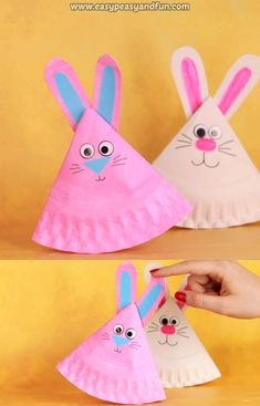 Get crafty this spring for less with these dollar store easter crafts. From DIY Easter decorations to easy easter crafts for kids, there are plenty of fun craft ideas to choose from. Easy Easter Crafts, Spring Crafts For Kids, Bunny Crafts, Paper Crafts For Kids, Art For Kids, Craft Kids, Craft With Paper Plates, Easy Crafts, Paper Plate Art