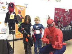 #Spider-Man, #CaptainAmerica, & the #wintersoldier walk into a con... There's a joke in there somewhere #Altcon2015