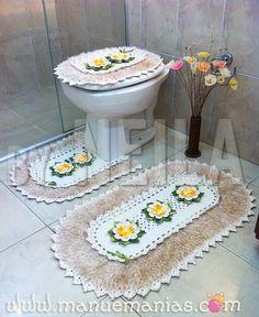 Jogo de Banheiro Flor da Primavera